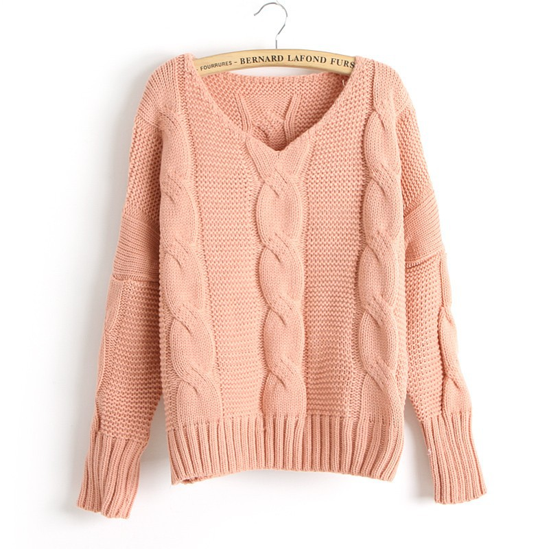 Knitting Sweaters For Girls : New arrival twist bat sleeve knitted sweater on luulla